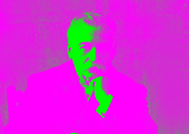 Auguste Escoffier in pop art colours.