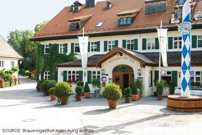 Brauereigasthof-Hotel-Aying exterior.