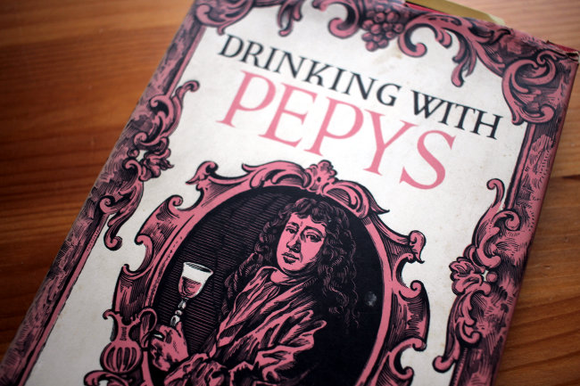 A detail from the cover of drinking with Pepys.