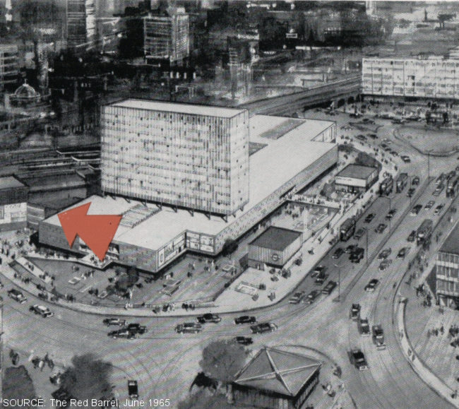 Elephant and Castle Shopping Centre, 1960s.