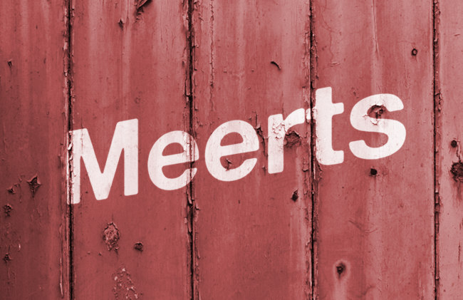 """Meerts"" (a mocked up sign)"