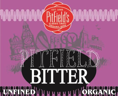 Pitfield Bitter label/pumpclip