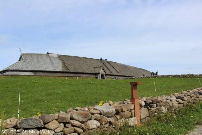 Viking Hall at Borg, Lofoten Islands, Norway.