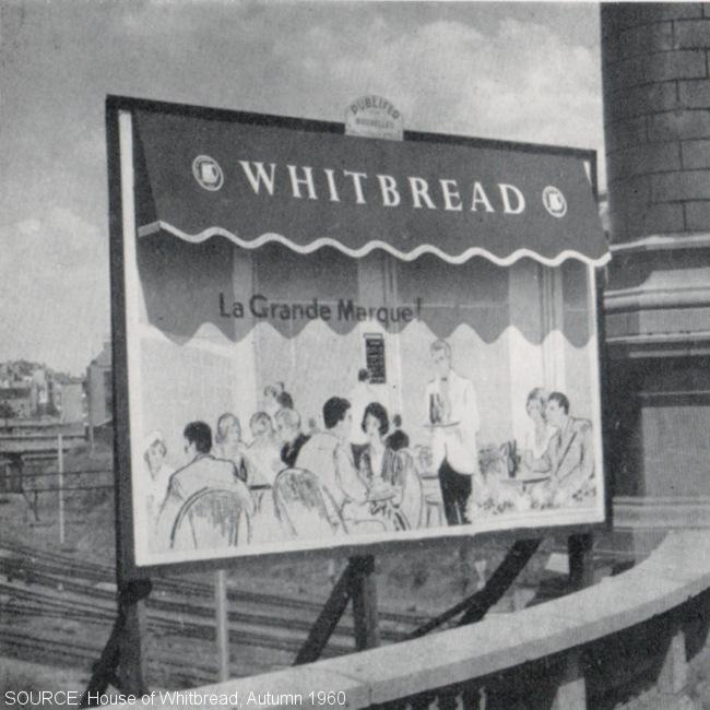 An acvertising hoarding.