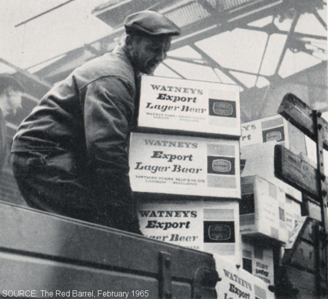 A man unloading crates from a ship.