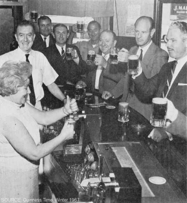 Drinkers in a New York bar.