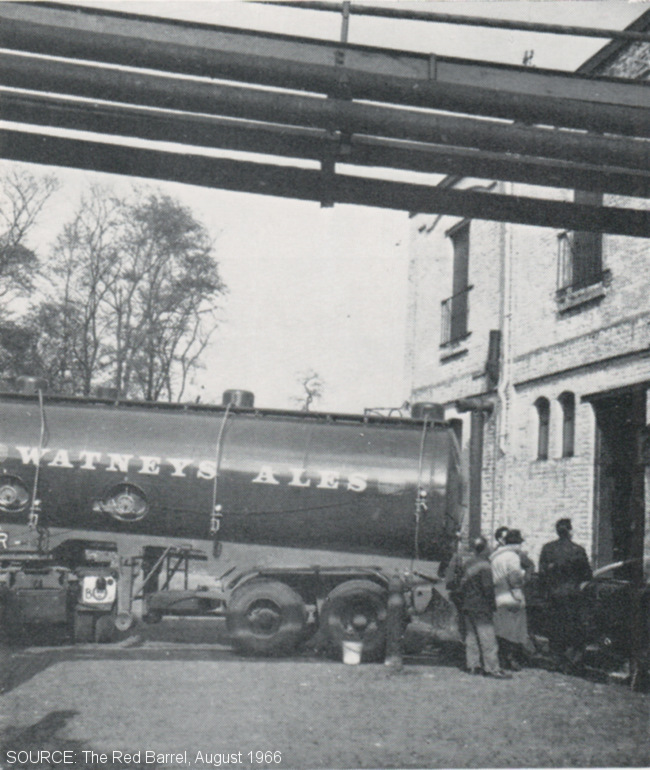A tanker delivering beer.