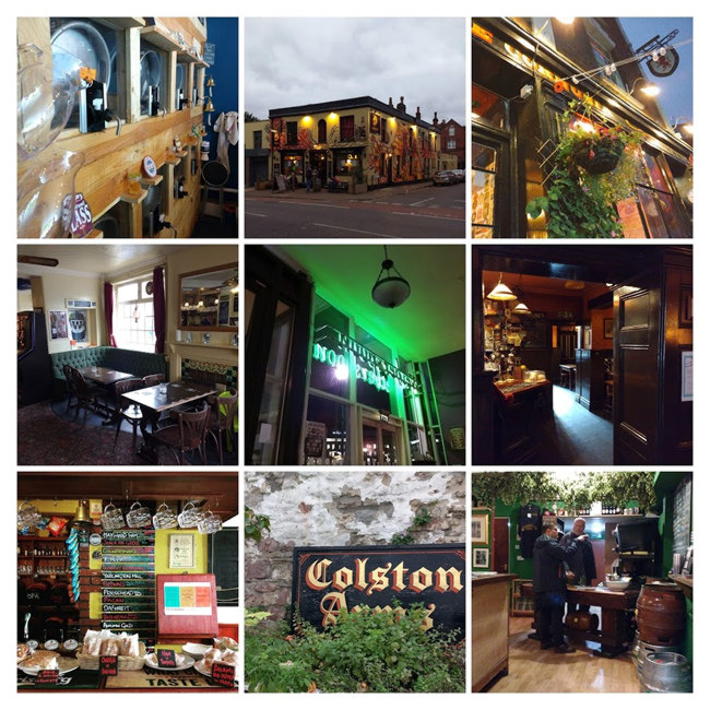 Collage: Bristol pubs.