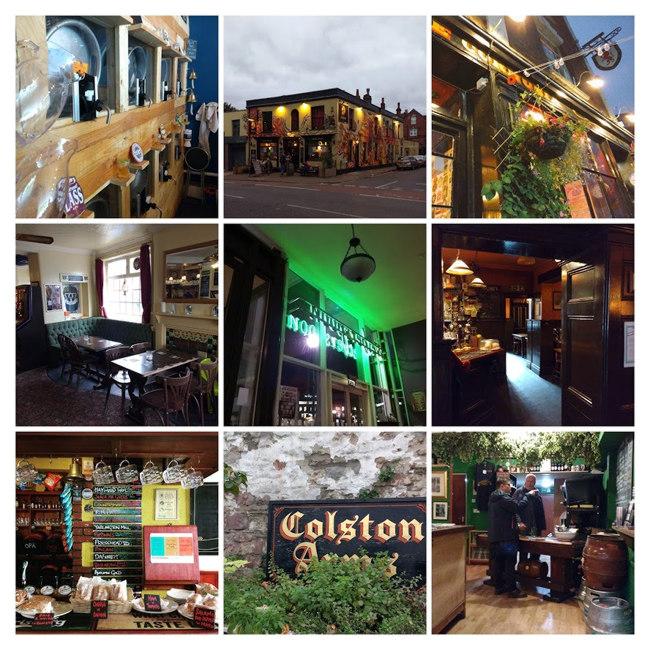 Collage: Bristol pubs.