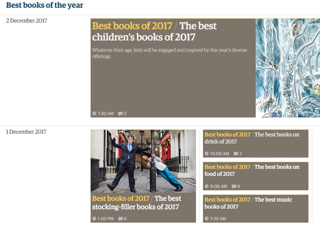 Guardian books of the year.