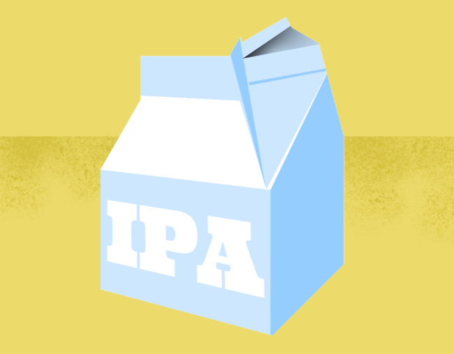 A milk carton of IPA.