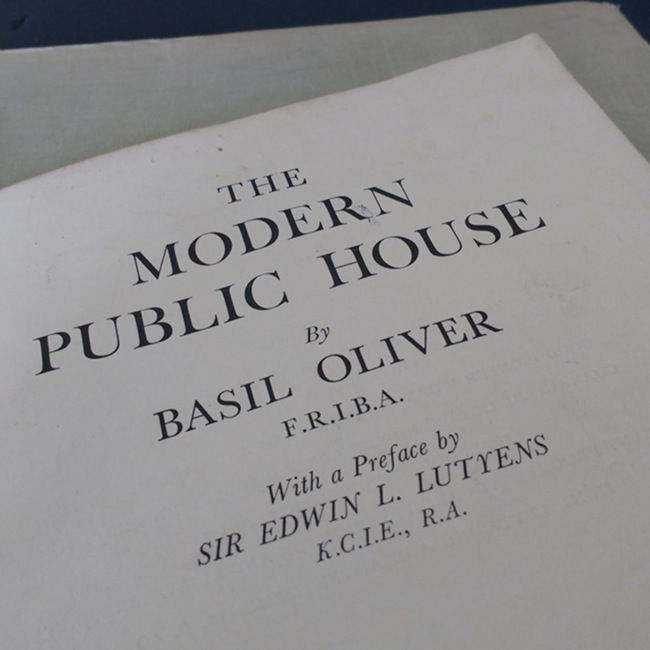 Title page: The Modern Public House.