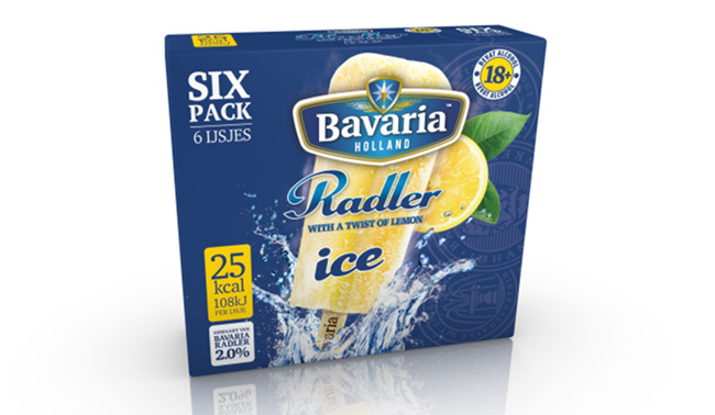 Bavaria beer ice lollies.