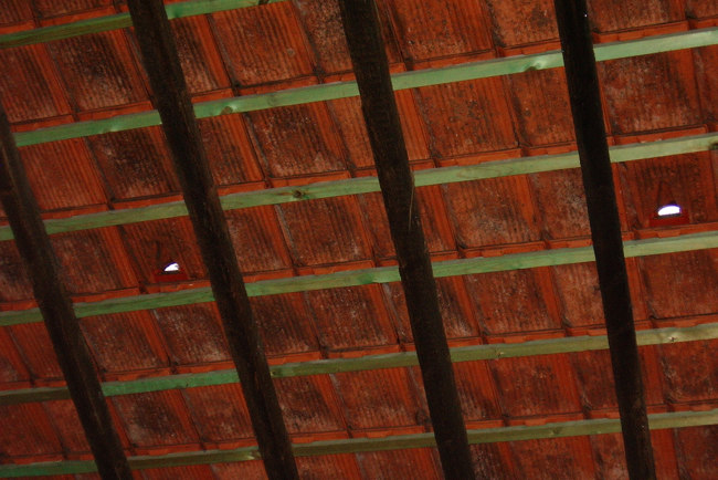 The roof at Cantillon brewery in Brussels.