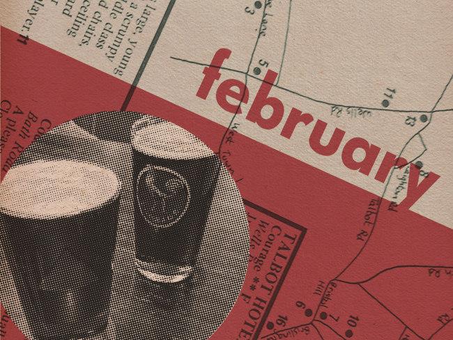 Illustration: February Collage.