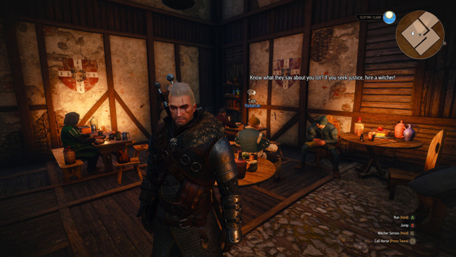 Screenshot from Witcher 3.