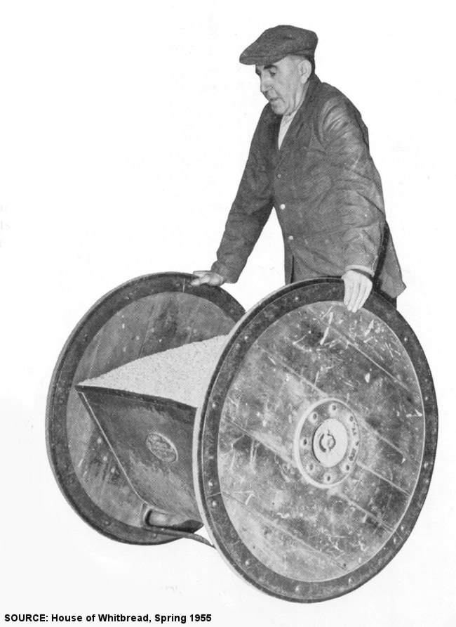 A man with a specially designed wheelbarrow.