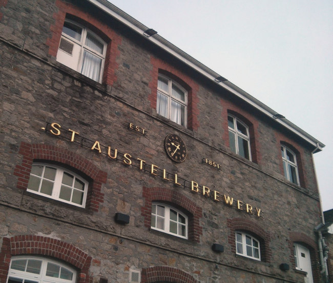 St Austell Brewery.