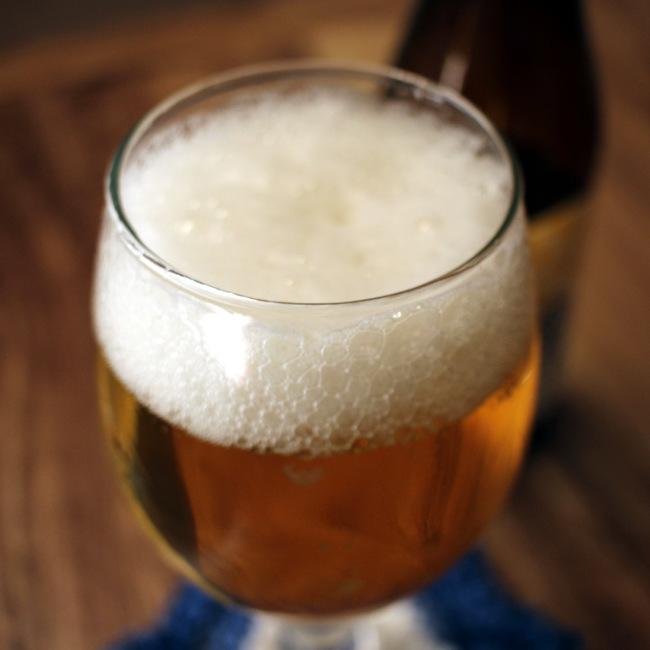 A chalice of golden beer.