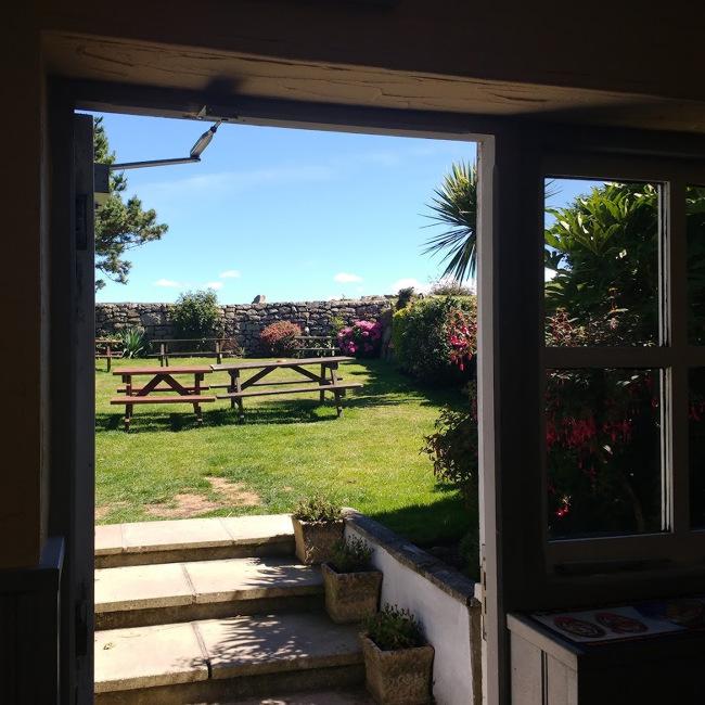 Country pub garden in the sun.