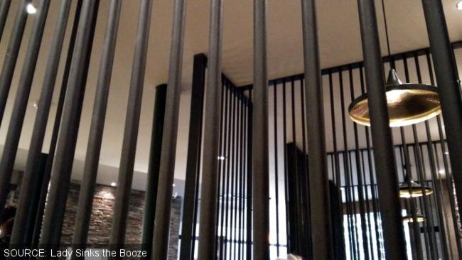A prison cage in a Stafford pub.