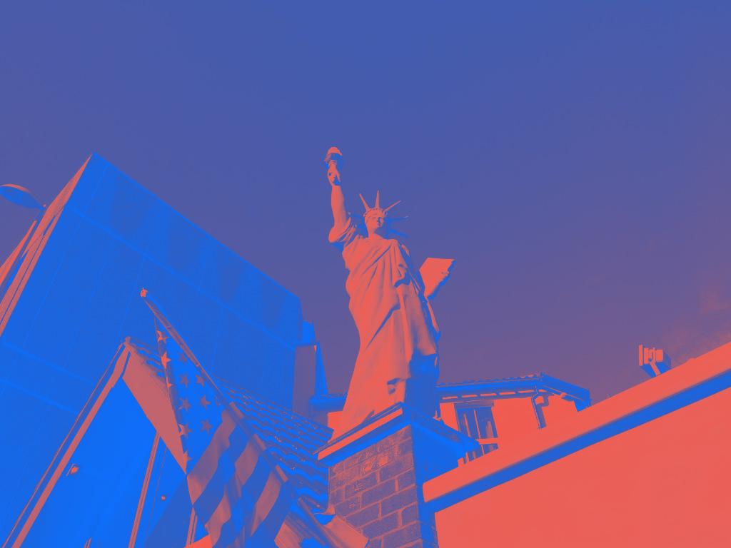 The Statue of Liberty in Weston super Mare.