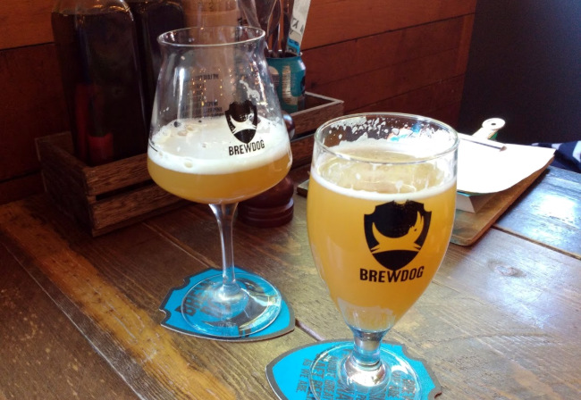 Hazy beer at BrewDog Bristol.
