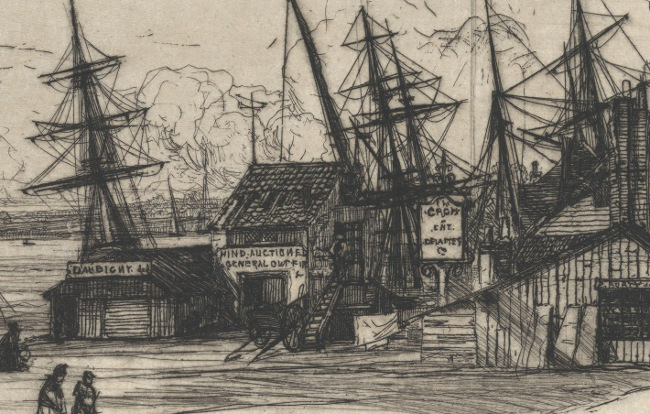 A detail from Haden's etching.