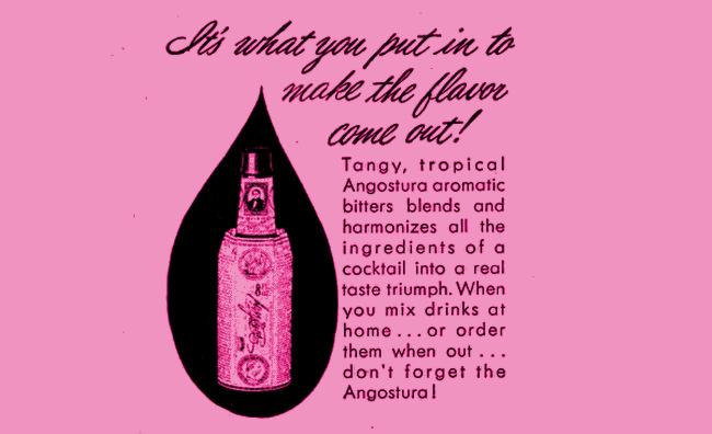 Angostura bitters label.