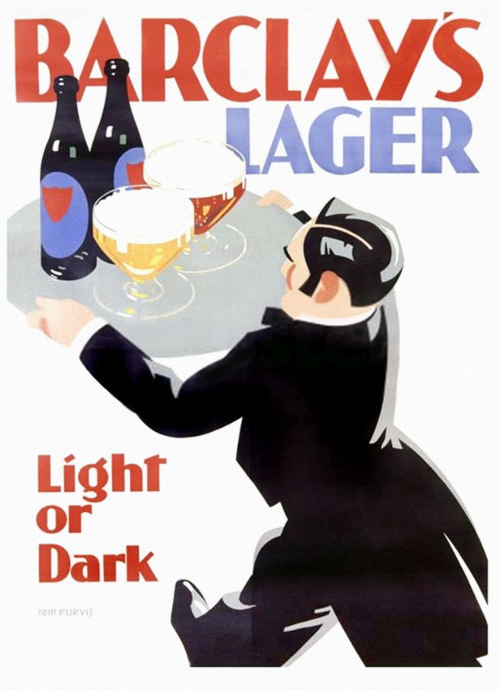 Barclay's Lager advertisement by Tom Purvis.
