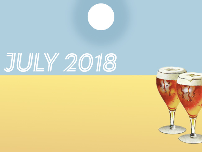 July 2018: hot sun, parched land, cool beer.