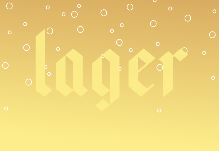 Text illustration: LAGER