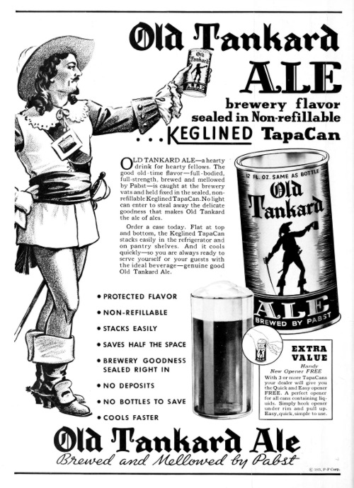 An advert for Keglined cans.
