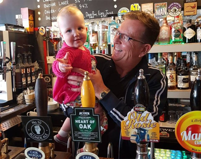Baby Betty in the pub.