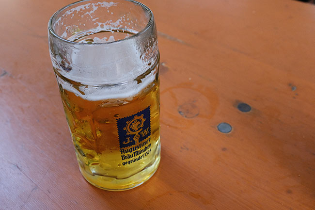 Augustiner Helles beer.