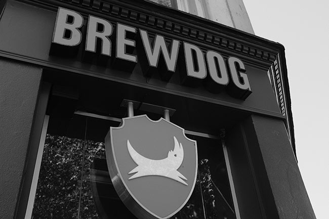 BrewDog bar sign.