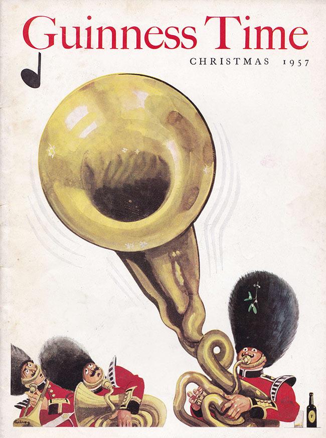 A bandsman with a wobbly tuba.