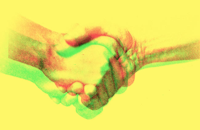 Handshake illustration.