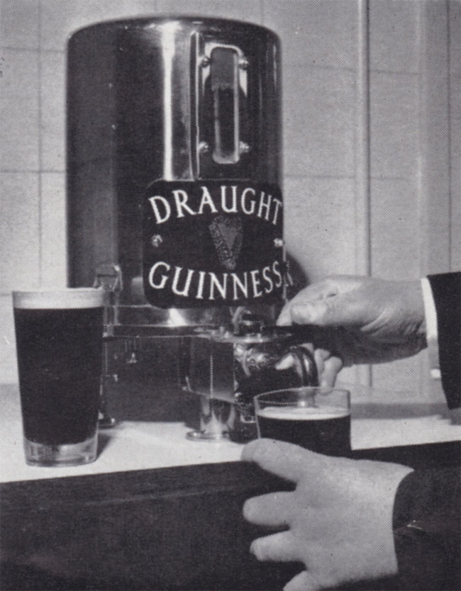 Draught Guinness dispenser.