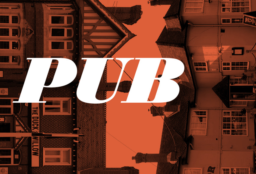 Abstract illustration of pubs.