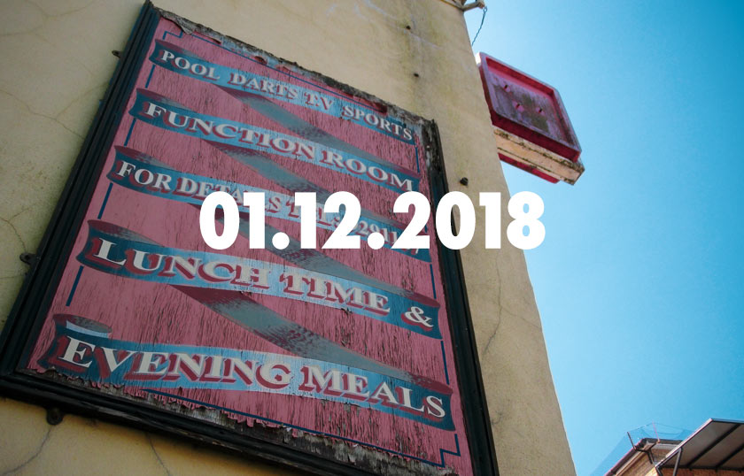 News, Nuggets & Longreads 1 December 2018: Stats, Social Clubs, Suburban Pubs