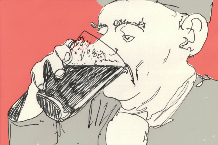 "Illustration: ""Old Boy With Pint""."