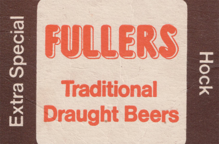 Fuller's Traditional Draught Beers (1970s beermat).