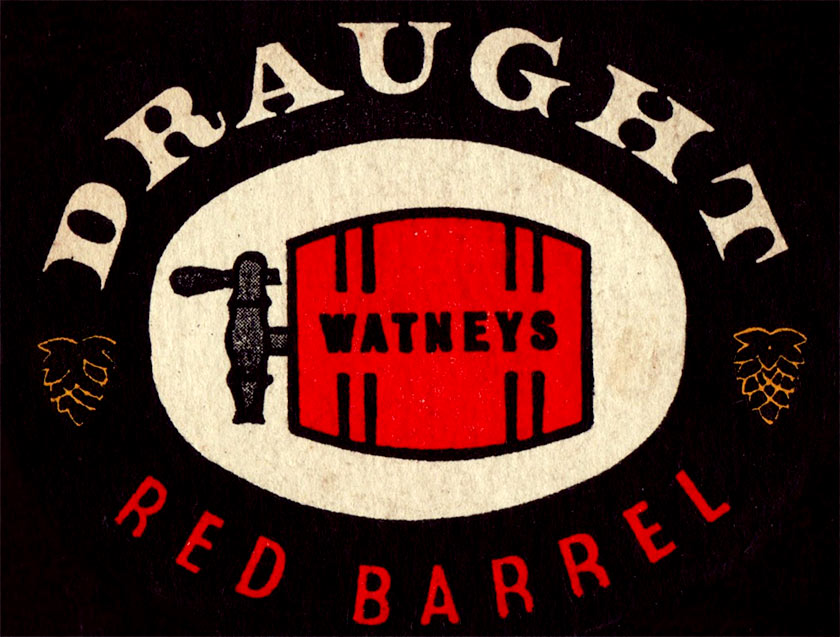 Red Barrel beer mat (detail)