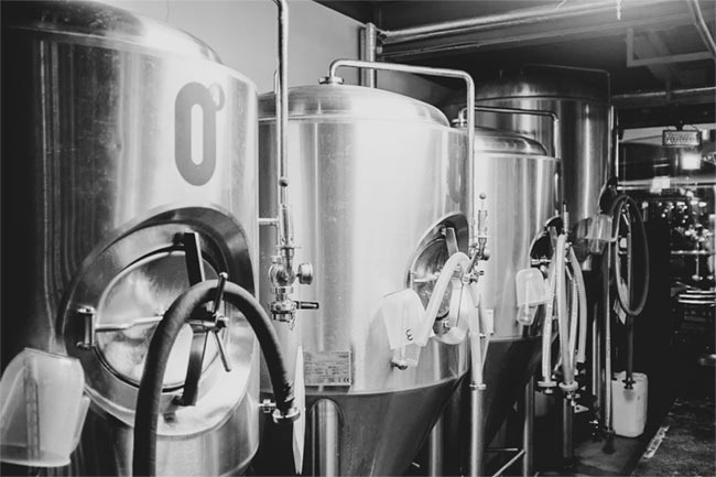 The brewing kit at Zero Degrees in Bristol