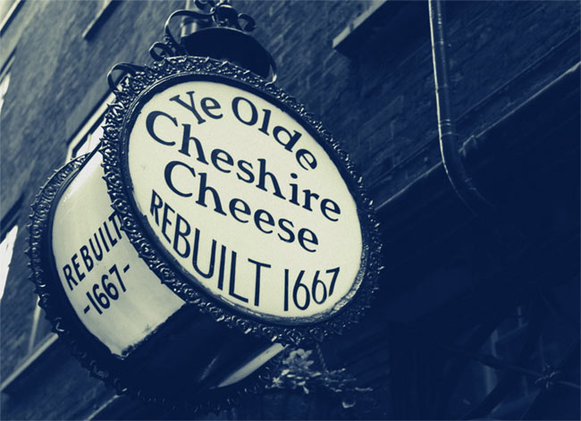Ye Olde Cheshire Cheese.