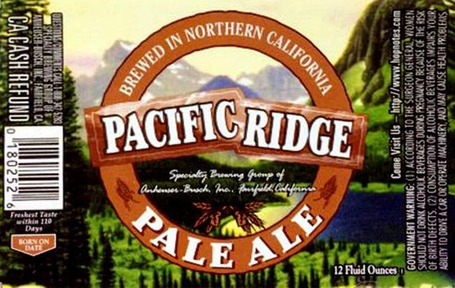 AB's Pacific Ridge pale ale.