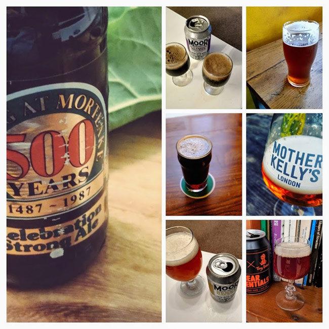 Collage of barley wines.