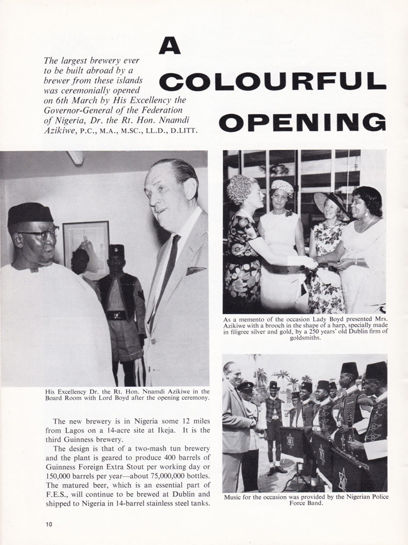 A page from Guinness Time, 1963