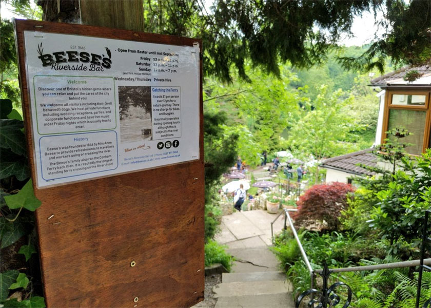 The entrance to Beese's Tea Gardens.